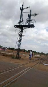 Train signal in Khartoum North | July 2012
